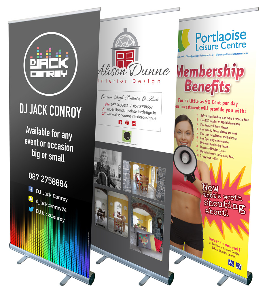 Large Format Printing, Display Banners with eyelets, Pull-ups, Pop-ups