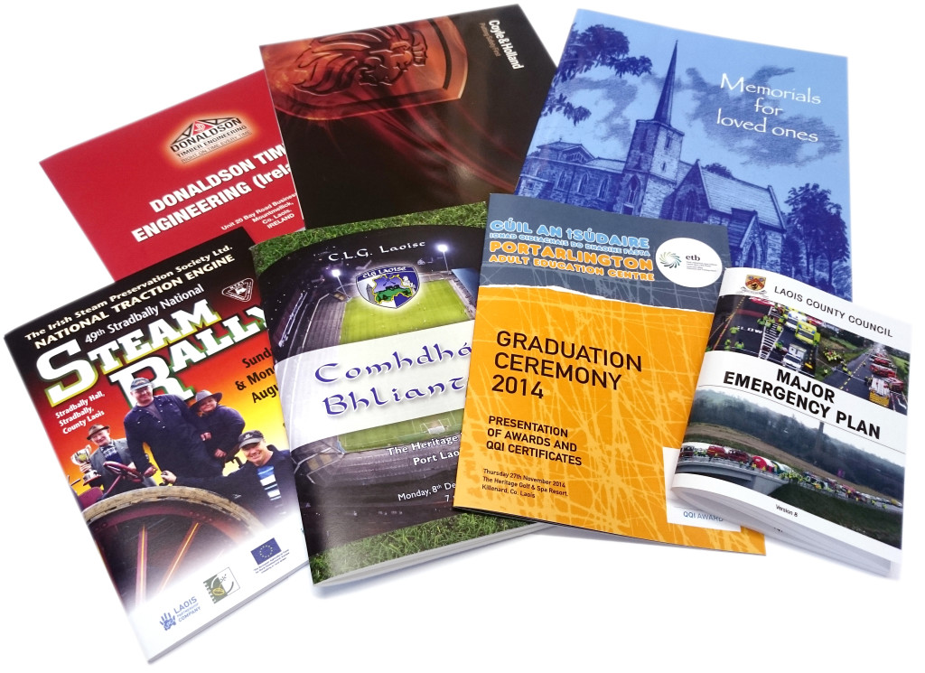 Brochures - Portarlington Adult Education Centre, Stradbally Steam Rally, Laois G.A.A., Laois County Council