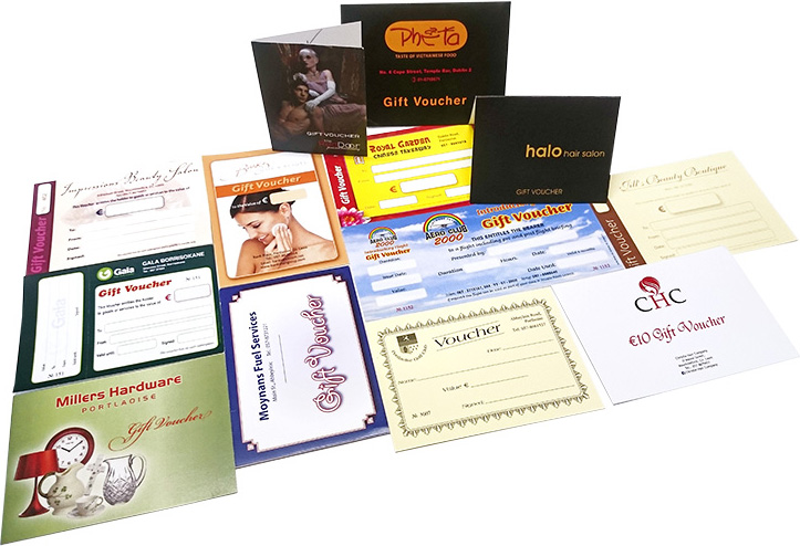 Assortment of Gift Vouchers and Gift Cards