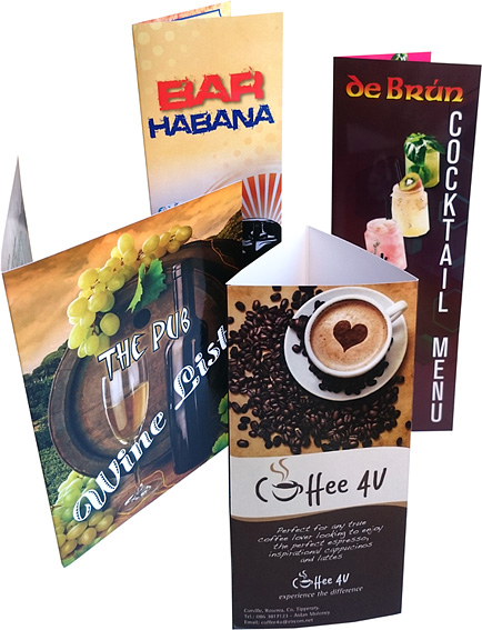 Menus - Bar Habana, De Brún, Coffee 4U