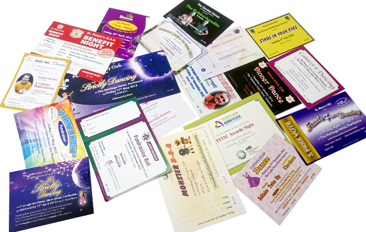 Various Tickets - Event Tickets, Fundraising Tickets, Lotto Tickets